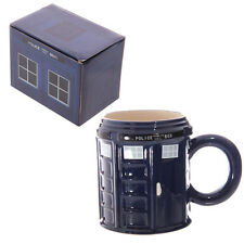 Gift Boxed Ceramic Police Box Mug. Great for Dr Who Fans