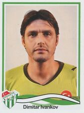 N°049 DIMITAR IVANKOV # BULGARIA BURSASPOR STICKER PANINI SUPERLIG 2011