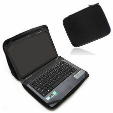 "14.1"" 14"" Black Laptop Sleeve Bag Cover Case W/4 Straps For HP DELL Sony Lenovo"
