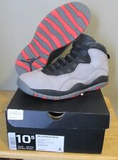 RARE 2014 Air Jordan Retro X 10 Cool Grey Infrared Black Men's Shoes size 10.5