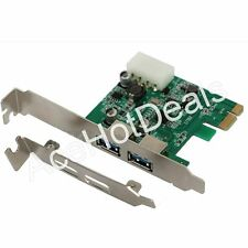 PCI-E Express USB 3.0 2 Port HUB Card Adapter w/ Low Profile Bracket