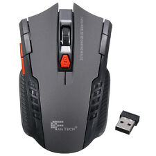 2.4Ghz Mini portable Wireless Optical Gaming Mouse Mice For PC Laptop Grey USA