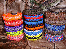 DOUBLE CORE 550 PARACORD SURVIVAL BRACELET - YOU PICK SIZE AND COLOR!  USA MADE.