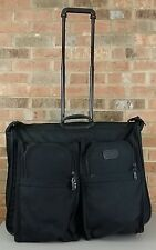 TUMI 2231D3 Black Ballistic Nylon 2-Wheeled ALPHA Luggage Garment Bag Suitcase