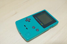 New Refurbished Game Boy Color Console Teal Blue Turquiose New Body Glass Screen