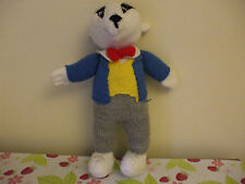 Vintage hand knitted Mr Beaver Toy, 14 inches
