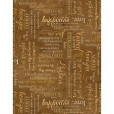 Greener Pastures Horses cotton quilt fabric Wilmington Horse BTY Sayings Brown