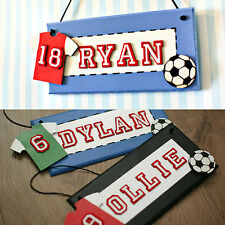 Boy's Football Theme Bedroom Door Sign/ Plaque. Children's Christmas Gift