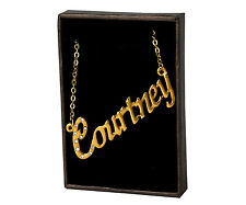 """Name Necklace """"COURTNEY"""" - 18ct Gold Plated - Wedding Gifts For Her Jewellery"""