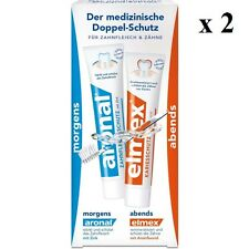 2 x Aronal & Elmex day/night toothpaste (2x75ml)