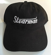 STEARMAN Cap BLACK    FREE SHIPPING
