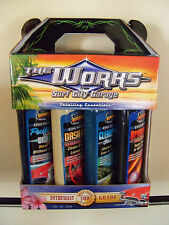 "Surf City Garage ""The Works"" 4pc Detailing Kit - Wax, Wash, Glass Cleaner, Etc"