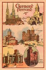 63 CLERMONT FERRAND DIOCESE ORCIVAL ROYAT RIOM ST NECTAIRE IMAGE 1934 OLD PRINT