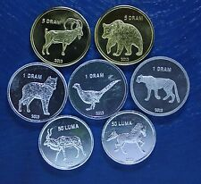 NAGORNO KARABAKH 7 COINS 2013 UNC FAUNA WWF ANIMAL SET BEST PRICE ON EBAY !!!!!!