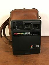 Vintage Kodak Colorburst Instant Camera with Soft Carrying Case Bag USA (HD5)