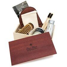 Columbus Boot Black Mimoza Shoe Shine Polish Care Kit Wooden Box Japan F/S