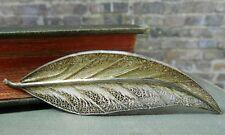 Vintage Signed VG Sterling Silver Filigree Leaf Pin/ Brooch