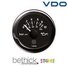 INDICATORE PRESSIONE OLIO MOTORE VDO VIEWLINE 12/24 v 0-10 BAR / 0-150 PSI BARCA