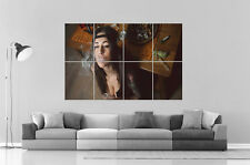 Sexy Girl Smoking Marijuana Tatoo  Poster Grand format A0