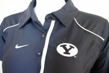 NIKE FIT DRY DRI BYU COUGARS WOMENS POLO SHIRT LARGE LRG L BRIGHAM YOUNG GOLF