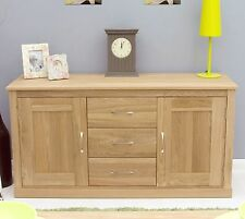 Conran solid oak contemporary furniture large living dining room sideboard