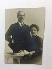 Vintage Real Photograph / Postcard - #D - Married Couple Sepia