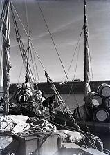 RHODES c. 1935 - Le Port Grèce Négatif Verre - V9 1025