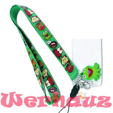 Disney Muppets Lanyard Keyring with ID Holder and Kermit Rubber Charm, new