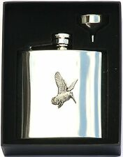 Woodcock 6 oz Hip Flask Personalised Shooting Gift Boxed FREE ENGRAVING