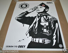 Shepard Fairey LEARN TO OBEY S/N Art Poster Print - OBEY Giant