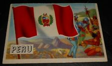 1956 Topps Trading Cards Flags of the World #6 PERU