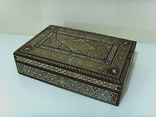 Lovely Vintage Inlaid Micro Mosaic Islamic Style Egypt Jewellery Box