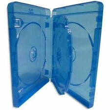 200 Blu ray 4 Way Cases 25mm Spine Holding 4 Disks New Replacement Amaray Cover