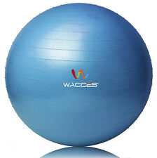 """New Exercise Ball & Air Pump for Yoga Fitness Pilates Sculpting 75 cm (29"""") Blue"""