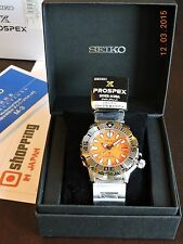 Seiko Monster SBDC023 Diver 200m Orange Dial with 6R15 Movement (NEW 100%)