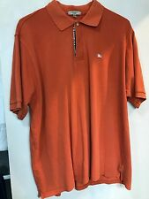 BURBERRY LONDON NOVA CHECK AUTHENTIC SOLID POLO SIZE XXL EXCELLENT CONDITION