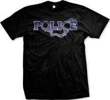 Police w/ Handcuffs- Protect and Serve Law Enforcement- Arrest! Mens T-shirt