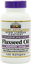 21st Century Flaxseed Oil 1000 Mg Softgels, 120-Count