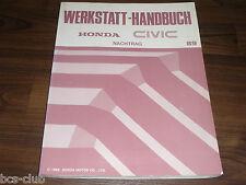 #H047 HONDA CIVIC MJ 1989 4. Generation UPDATE WERKSTATT HANDBUCH 64SH320