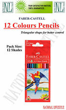 1 X FABER CASTELL TRI-GRIP COLOUR PENCILS 12 COLOR SET