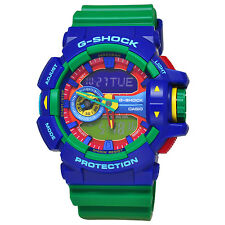 Casio G-SHOCK GA400-2A Big Case Green & Blue Resin Analog Digital Men's Watch