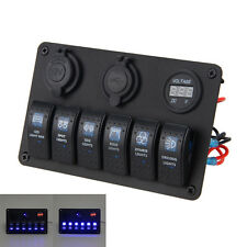 6 GANG CAR MARINO barco del coche LED CIRCUITO DE CURSOR ROMPEDOR Switch Panel
