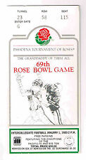 1983 ROSE BOWL Ticket Stub UCLA / MICHIGAN