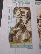 FRANCE 2010, TP AUTOADHESIF 392 MUSIQUE VIOLONCELLE neuf**, MNH STICKER STAMP