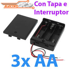 PORTAPILAS 3x AA con tapa R6 4,5v cable alimentacion PCB battery holder