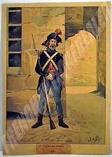PLANCHE COULEURS UNIFORME Ière Légion des Francs 1796 JOB J Onfroy de BREVILLE