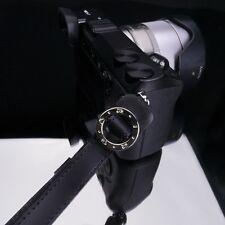 GARIZ Leather Wrist Finger Strap Black XS-WFSN1 M43 Sony NEX Fuji Lumis Olympus