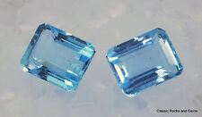 Faceted Aquamarine Gemstone Pair Aquamarin Edelstein Paar Aquamarina 3.38 ct