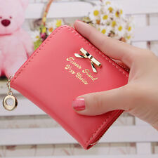 Womens Girls Leather Wallet Card Holder Coin Purse Clutch Handbag Small Wallet