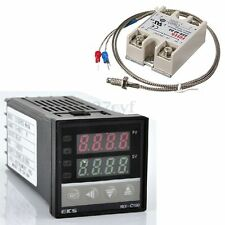 400℃ Digital REX-C100 Temperature Controller PID + 40A SSR +K Thermocouple Probe